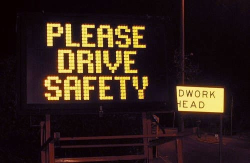 Please drive safety