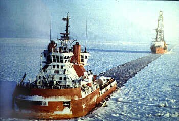 Ice breaker used to break the ice