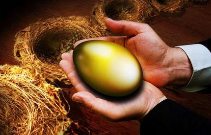 Picture of a gold nest egg