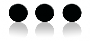 picture of an ellipsis: three evenly spaced dots
