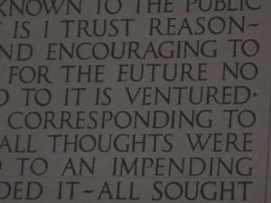 Spelling error on the washington memorial