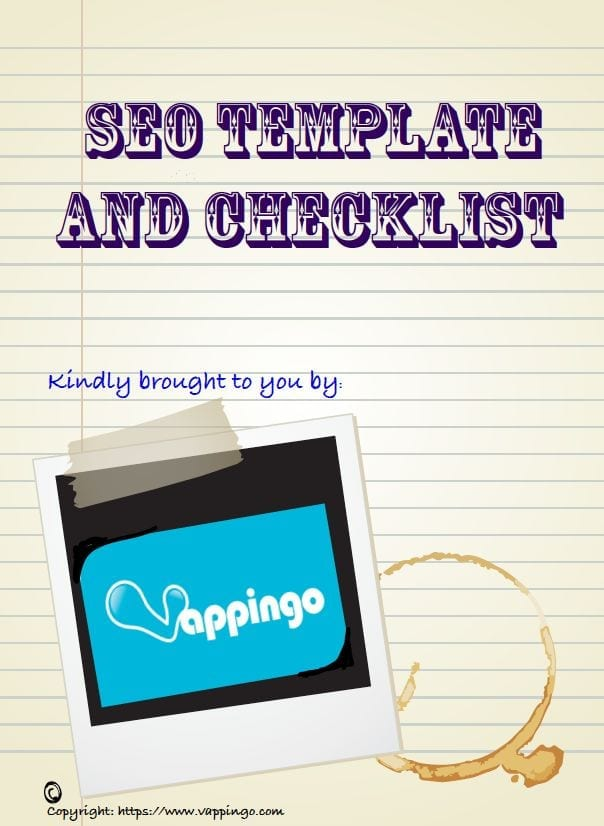 Free SEO Template and Checklist - Online Editing and Proofreading ...