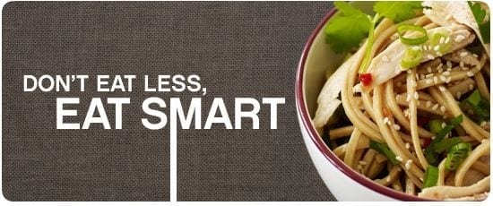 Weight Watchers Slogan: Don't eat less, eat smart