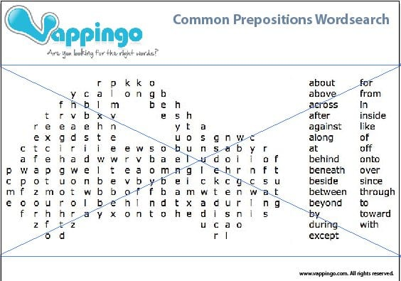 English proofreading online word search