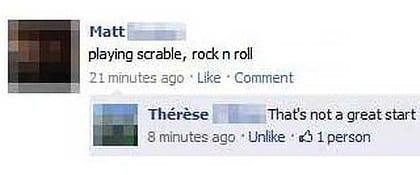 Facebook Scrabble error