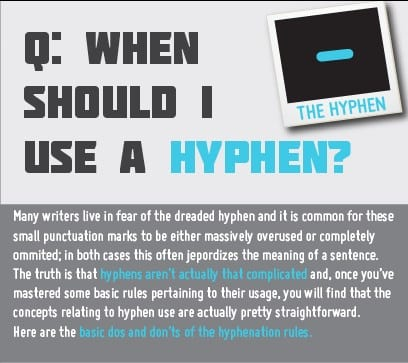 infographic hyphen use hyphenation