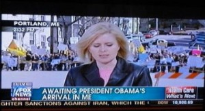 Reads: Waiting President Obama's arrival in ME