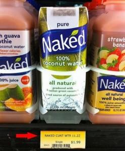 Reads: Naked c*nt wtr