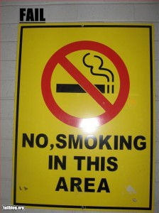 No, smoking in this area