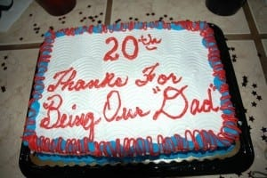 """Thanks for being our """"dad"""""""