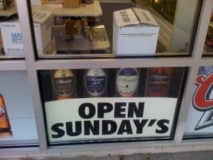 Reads: open sunday's