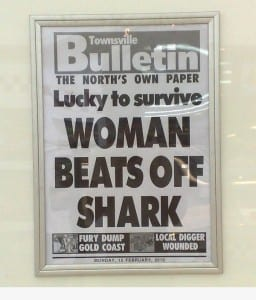 Reads: Women beats off shark