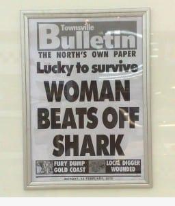 Reads: Women beats off shark