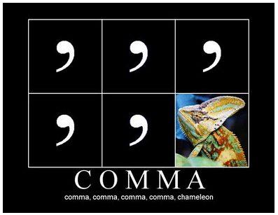 Comma rules are pretty complicated