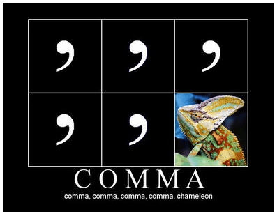 Comma rules are pretty complicated