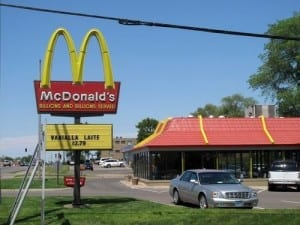 Mcdonalds sign fail