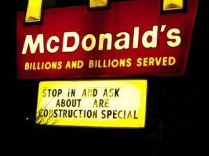 Grammatically incorrect Mcdonald's sign