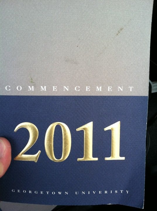 """commencement"" is spelled wrong"