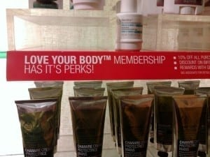 Body Shop spells their own product incorrectly