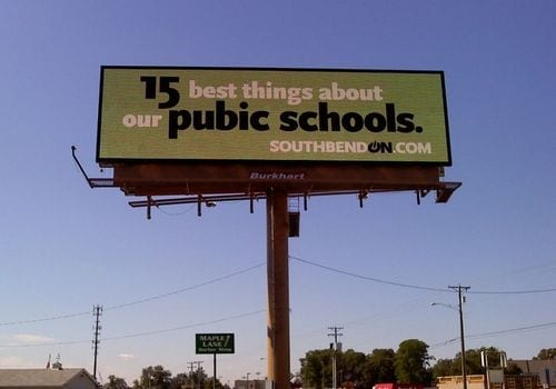 "It reads ""pubic schools"" instead of ""public"" schools"