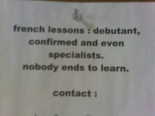 Terrible sign full of translation mistakes