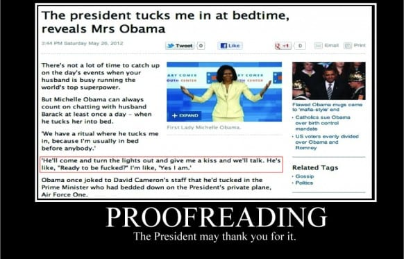 Proofreading: The President Will Thank You for It