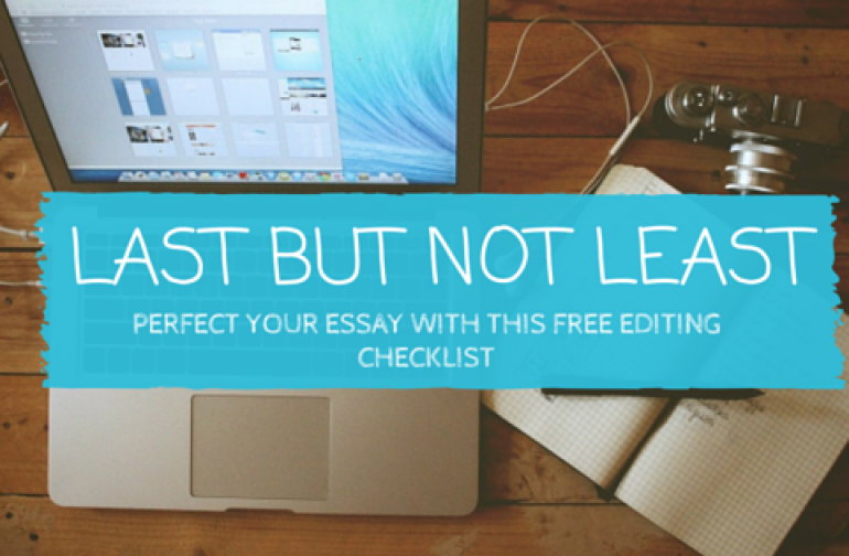 The Free Essay Editing Checklist That will Put You Top of the Class