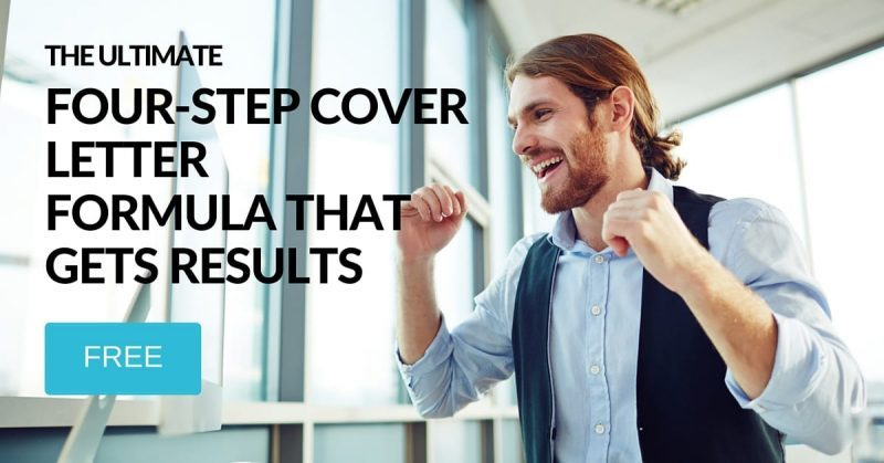 Cover letter formula to get results