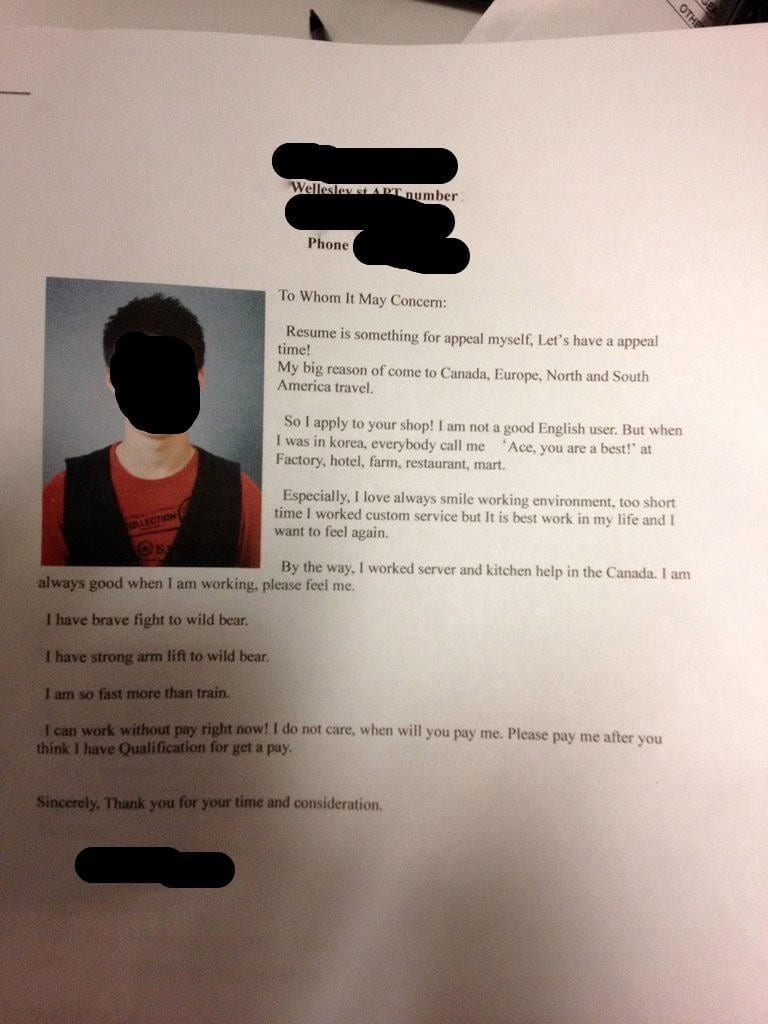 Funny Cover Letter Example Two The One Who Is Faster Than A Train