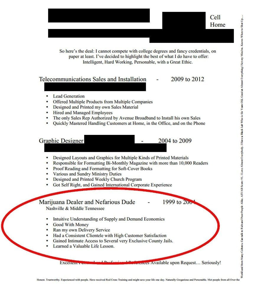 Funny Cover Letter Example Ten The One With Transferable Skills