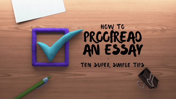 Proofreading an essay blog item