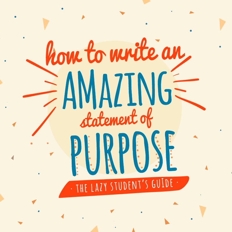 Statement of purpose formatting: How to write a statement of purpose