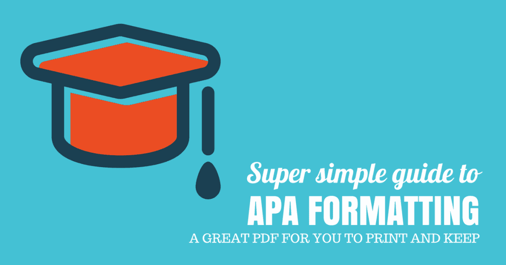 Super simple guide to APA formatting
