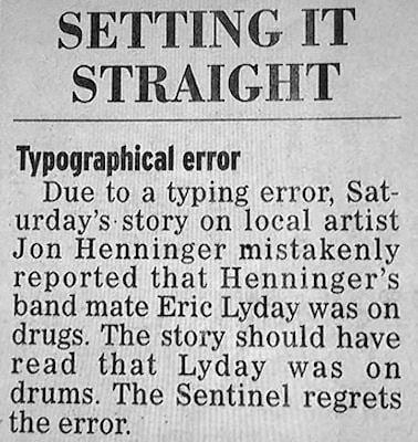 Newspaper error