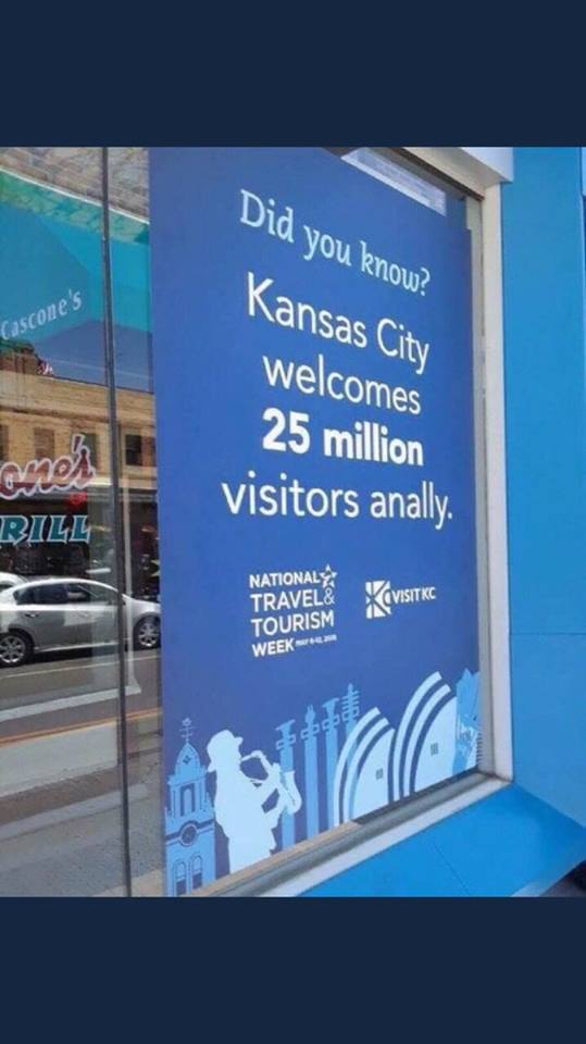 Because how you welcome guests matters. Proofreading mistake on sign.
