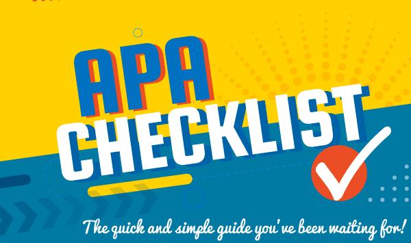 APA checklist guide to APA rules