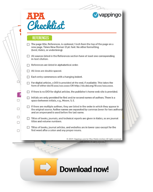 APA Checklist and Guide to APA Rules