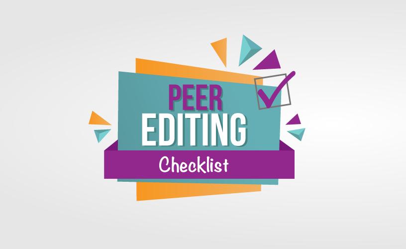 How to peer edit an essay