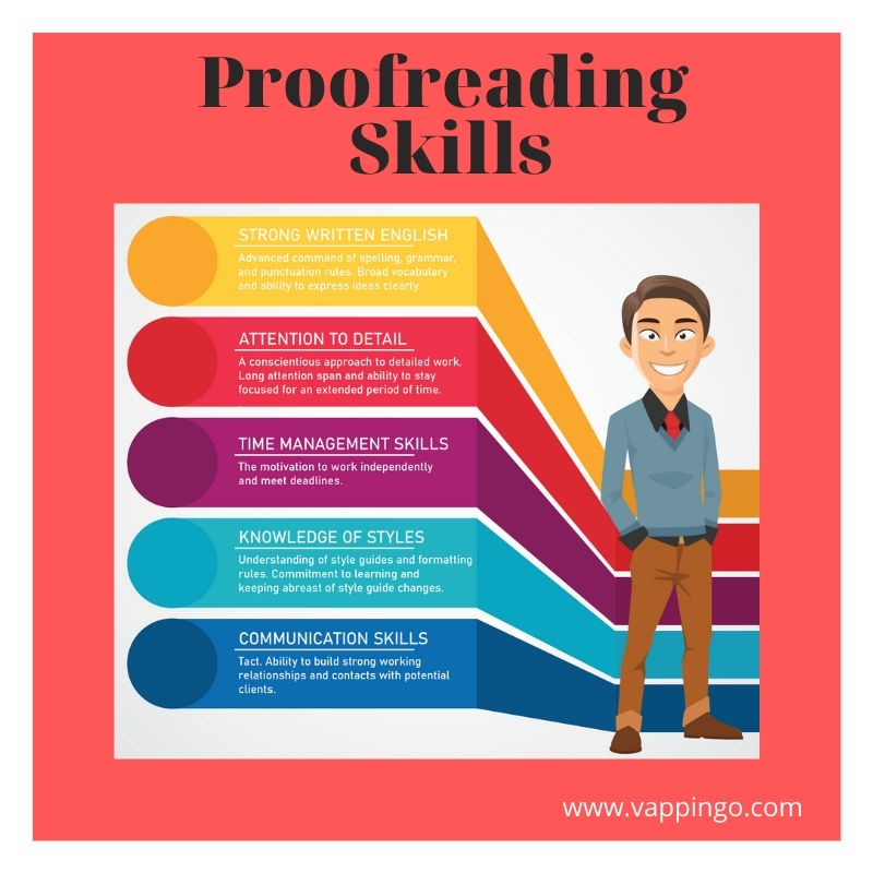 A list of the skills proofreaders need